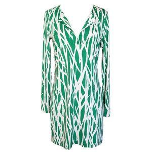 DVF Diane von Furstenberg Silk Twig Mini Dress 4